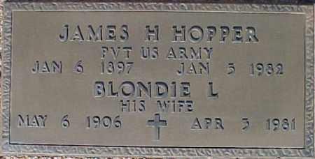 HOPPER, JAMES H - Maricopa County, Arizona   JAMES H HOPPER - Arizona Gravestone Photos