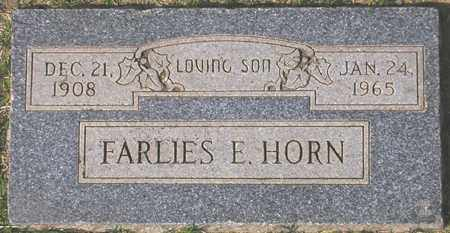 HORN, FARLIES E. - Maricopa County, Arizona | FARLIES E. HORN - Arizona Gravestone Photos
