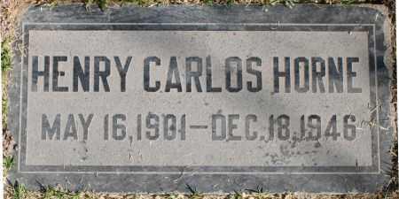 HORNE, HENRY CARLOS - Maricopa County, Arizona   HENRY CARLOS HORNE - Arizona Gravestone Photos