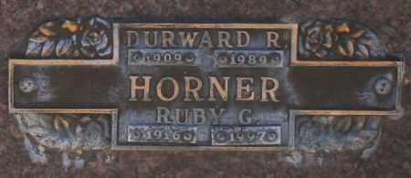 HORNER, DURWARD R - Maricopa County, Arizona   DURWARD R HORNER - Arizona Gravestone Photos