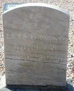 HORTON, LETA MAXINE - Maricopa County, Arizona | LETA MAXINE HORTON - Arizona Gravestone Photos