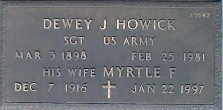 HOWICK, DEWEY J - Maricopa County, Arizona   DEWEY J HOWICK - Arizona Gravestone Photos