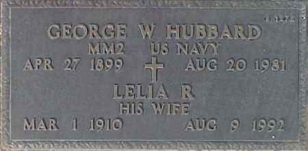 HUBBARD, GEORGE W. - Maricopa County, Arizona | GEORGE W. HUBBARD - Arizona Gravestone Photos