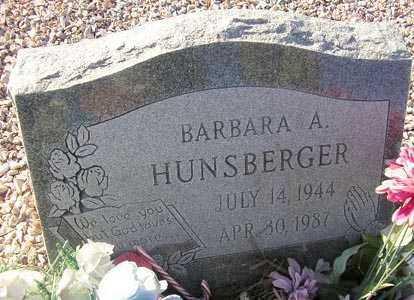 HUNSBERGER, BARBARA A. - Maricopa County, Arizona   BARBARA A. HUNSBERGER - Arizona Gravestone Photos