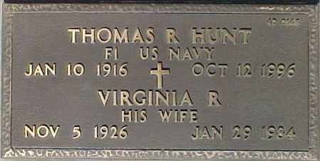 HUNT, THOMAS R. - Maricopa County, Arizona | THOMAS R. HUNT - Arizona Gravestone Photos