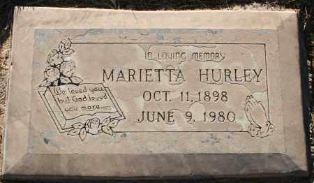 HURLEY, MARIETTA - Maricopa County, Arizona | MARIETTA HURLEY - Arizona Gravestone Photos