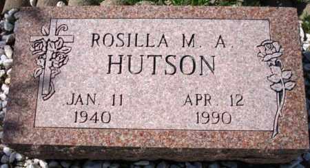 HUTSON, ROSILLA M. A. - Maricopa County, Arizona   ROSILLA M. A. HUTSON - Arizona Gravestone Photos