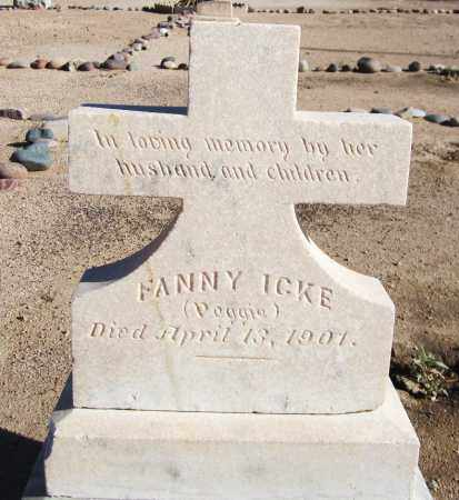 ICKE, FANNY - Maricopa County, Arizona | FANNY ICKE - Arizona Gravestone Photos
