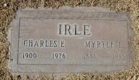 IRLE, CHARLES E. - Maricopa County, Arizona | CHARLES E. IRLE - Arizona Gravestone Photos