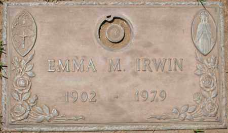 IRWIN, EMMA M. - Maricopa County, Arizona | EMMA M. IRWIN - Arizona Gravestone Photos