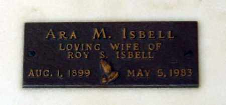 ISBELL, ARA MARVELL - Maricopa County, Arizona | ARA MARVELL ISBELL - Arizona Gravestone Photos