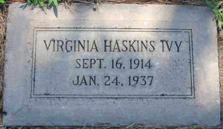 HASKINS IVY, VIRGINIA - Maricopa County, Arizona   VIRGINIA HASKINS IVY - Arizona Gravestone Photos