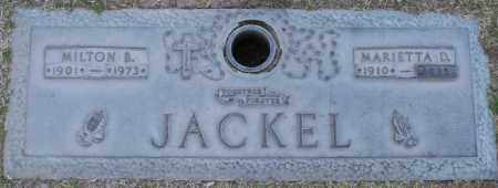 JACKEL, MILTON B - Maricopa County, Arizona | MILTON B JACKEL - Arizona Gravestone Photos