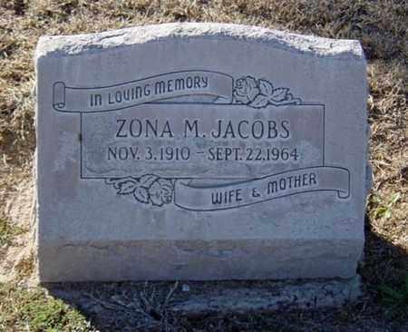 "JACOBS, ARIZONA ""ZONA"" M. - Maricopa County, Arizona | ARIZONA ""ZONA"" M. JACOBS - Arizona Gravestone Photos"