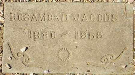 JACOBS, ROSAMOND - Maricopa County, Arizona   ROSAMOND JACOBS - Arizona Gravestone Photos