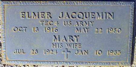 JACQUEMIN, ELMER - Maricopa County, Arizona | ELMER JACQUEMIN - Arizona Gravestone Photos