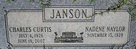 JANSON, CHARLES CURTIS - Maricopa County, Arizona   CHARLES CURTIS JANSON - Arizona Gravestone Photos