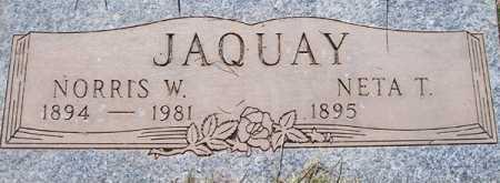 JAQUAY, NETA T. - Maricopa County, Arizona   NETA T. JAQUAY - Arizona Gravestone Photos