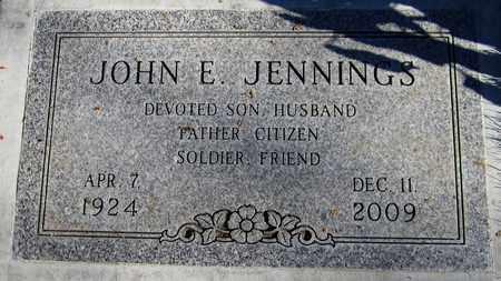 JENNINGS, JOHN E. - Maricopa County, Arizona   JOHN E. JENNINGS - Arizona Gravestone Photos