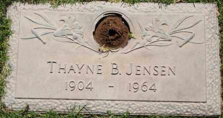 JENSEN, THAYNE B - Maricopa County, Arizona   THAYNE B JENSEN - Arizona Gravestone Photos