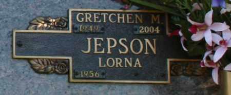 JEPSON, GRETCHEN M - Maricopa County, Arizona | GRETCHEN M JEPSON - Arizona Gravestone Photos