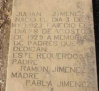 JIMENEZ, JULIAN - Maricopa County, Arizona | JULIAN JIMENEZ - Arizona Gravestone Photos