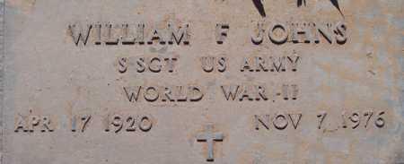 JOHNS, WILLIAM F. - Maricopa County, Arizona | WILLIAM F. JOHNS - Arizona Gravestone Photos