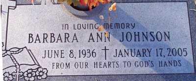 JOHNSON, BARBARA ANN - Maricopa County, Arizona | BARBARA ANN JOHNSON - Arizona Gravestone Photos