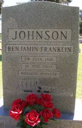 JOHNSON, BENJAMIN FRANKLIN - Maricopa County, Arizona | BENJAMIN FRANKLIN JOHNSON - Arizona Gravestone Photos