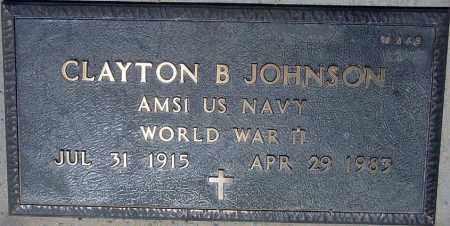 JOHNSON, CLAYTON B. - Maricopa County, Arizona | CLAYTON B. JOHNSON - Arizona Gravestone Photos