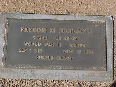 JOHNSON, FREDDIE M. - Maricopa County, Arizona | FREDDIE M. JOHNSON - Arizona Gravestone Photos