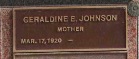 JOHNSON, GERALDINE E. - Maricopa County, Arizona   GERALDINE E. JOHNSON - Arizona Gravestone Photos