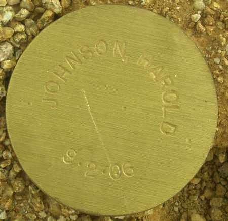 JOHNSON, HAROLD - Maricopa County, Arizona   HAROLD JOHNSON - Arizona Gravestone Photos