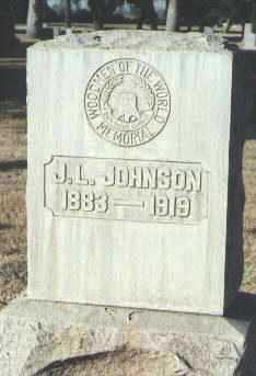 JOHNSON, J. L. - Maricopa County, Arizona | J. L. JOHNSON - Arizona Gravestone Photos