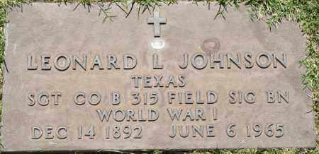 JOHNSON, LEONARD L - Maricopa County, Arizona | LEONARD L JOHNSON - Arizona Gravestone Photos