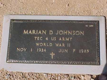 JOHNSON, MARIAN D. - Maricopa County, Arizona | MARIAN D. JOHNSON - Arizona Gravestone Photos