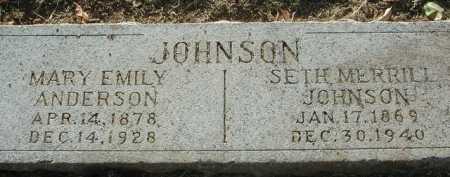 JOHNSON, SETH MERRILL - Maricopa County, Arizona | SETH MERRILL JOHNSON - Arizona Gravestone Photos