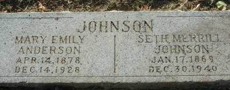 ANDERSON JOHNSON, MARY EMILY - Maricopa County, Arizona | MARY EMILY ANDERSON JOHNSON - Arizona Gravestone Photos