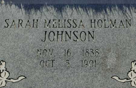 HOLMAN JOHNSON, SARAH MELISSA - Maricopa County, Arizona | SARAH MELISSA HOLMAN JOHNSON - Arizona Gravestone Photos