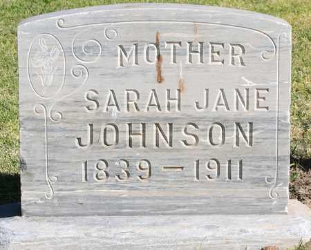 SPOONER JOHNSON, SARAH JANE - Maricopa County, Arizona | SARAH JANE SPOONER JOHNSON - Arizona Gravestone Photos