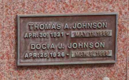 JOHNSON, DOCIA J. - Maricopa County, Arizona | DOCIA J. JOHNSON - Arizona Gravestone Photos