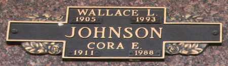 JOHNSON, CORA E - Maricopa County, Arizona | CORA E JOHNSON - Arizona Gravestone Photos
