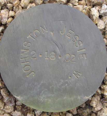 JOHNSTON, JESSIE W. - Maricopa County, Arizona   JESSIE W. JOHNSTON - Arizona Gravestone Photos