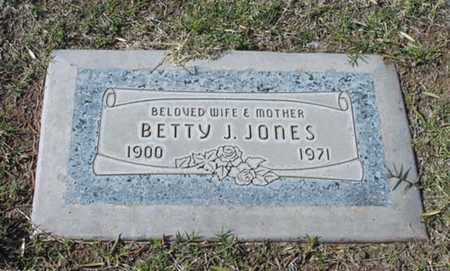 JONES, BETTY J. - Maricopa County, Arizona   BETTY J. JONES - Arizona Gravestone Photos