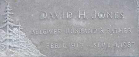 JONES, DAVID H. - Maricopa County, Arizona   DAVID H. JONES - Arizona Gravestone Photos