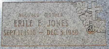 JONES, ERILE E. - Maricopa County, Arizona   ERILE E. JONES - Arizona Gravestone Photos