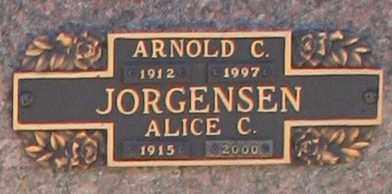 JORGENSEN, ALICE C - Maricopa County, Arizona   ALICE C JORGENSEN - Arizona Gravestone Photos