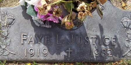 JUSTICE, FAYE L. - Maricopa County, Arizona | FAYE L. JUSTICE - Arizona Gravestone Photos