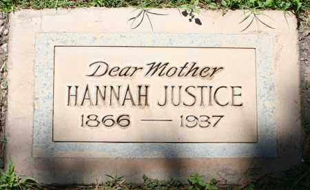JUSTICE, HANNAH - Maricopa County, Arizona | HANNAH JUSTICE - Arizona Gravestone Photos