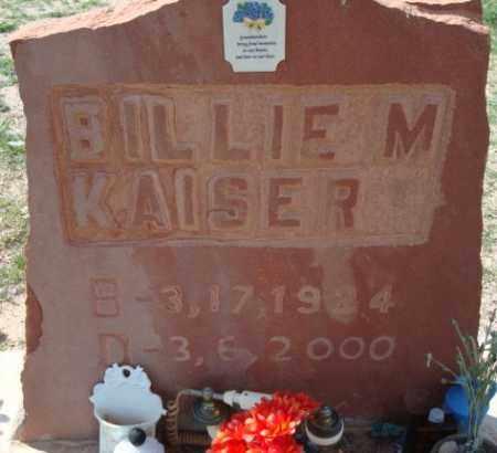 KAISER, BILLIE M. - Maricopa County, Arizona | BILLIE M. KAISER - Arizona Gravestone Photos